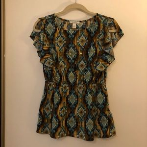 Cap sleeve blouse